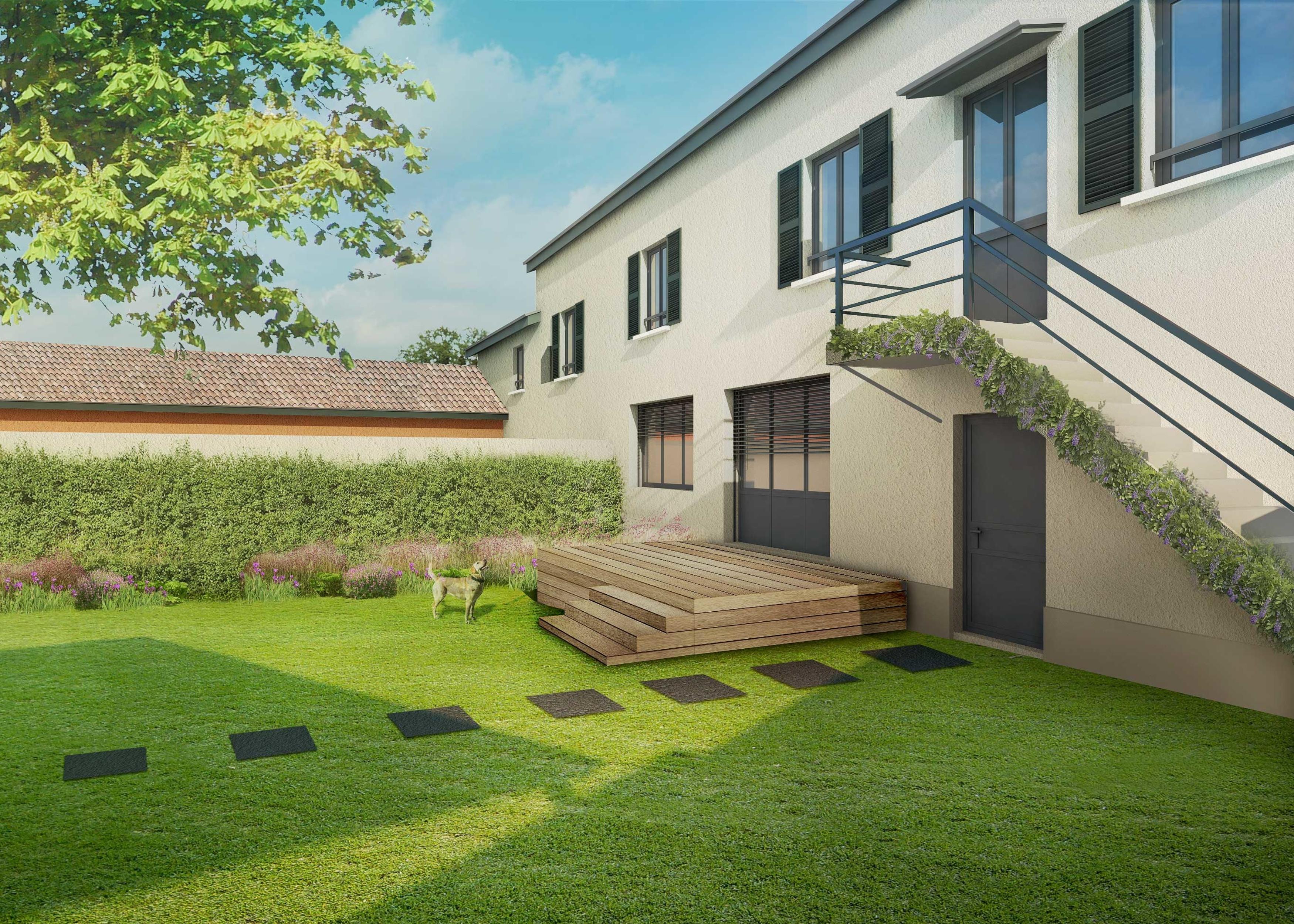 AC2L Invest : Le Hameau Alice Rénovation ferme Dardilly
